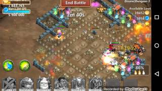 getlinkyoutube.com-Castle Clash Insane dungeon 2-10  3flame