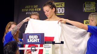 getlinkyoutube.com-UFC 200 Weigh-Ins: Miesha Tate's Tense Moment