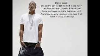 getlinkyoutube.com-❤Jay-Z & Kanye West - N*ggas In Paris LYRICS❤