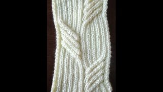 getlinkyoutube.com-KNITTING PATTERN - SWEEPING CABLE TUTORIAL
