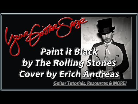 Paint It Black Rolling Stones Cover by Erich Andreas - Advanced Fingerpicking Acoustic Guitar