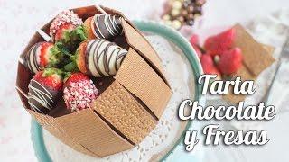getlinkyoutube.com-Tarta de chocolate y fresas | Quiero Cupcakes!