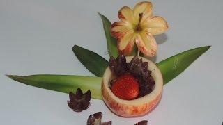 getlinkyoutube.com-How to make a delicious dessert with fruit - Arte com fruta e legumes
