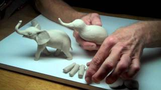 getlinkyoutube.com-Learn Sculpting - Lesson 3, Part 1: Sculpt a Baby Elephant