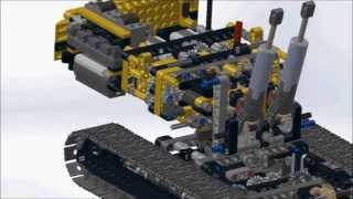 getlinkyoutube.com-A Solidworks Assembly Animation of Lego Technic Motorized Excavator 8043
