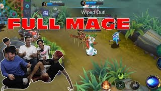 5 MAGE AUTO WIN!! MABAR SAMA DYLAND PROS - MOBILE LEGENDS