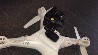 Syma X8c EE Action Camera Mounting
