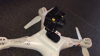 getlinkyoutube.com-Syma X8c EE Action Camera Mounting