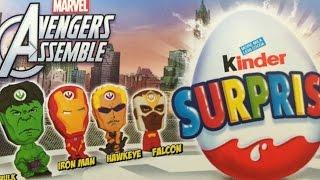 getlinkyoutube.com-Marvel Avengers Assemble Kinder Surprise Eggs Captain America Thor Loki