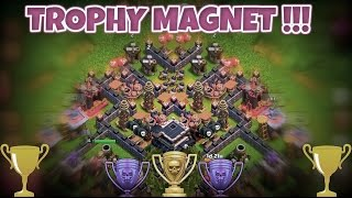 getlinkyoutube.com-Town Hall 9 (TH9) Clash Of Clan Trophy Base | War Base | Trophy Pushing | The Trophy Magnet