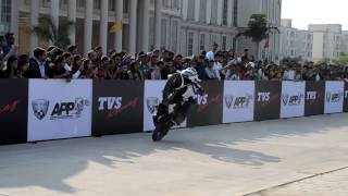 getlinkyoutube.com-TVS apache rtr stunt