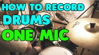 getlinkyoutube.com-How to Record Drums with One Mic | Pros/Cons of Different Mic Positions