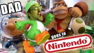 getlinkyoutube.com-Dad goes to NINTENDO WORLD! Pokemon, Mario, Yoshi, Skylanders, Disney Infinity + More!