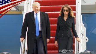 getlinkyoutube.com-トランプ次期大統領がVIP機(C-32A)で首都ワシントンに到着