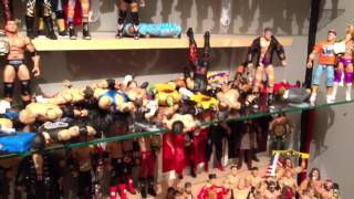 getlinkyoutube.com-WWE Figures display FELL!!!! Mattel wrestling action figure collection ruined AGAIN!