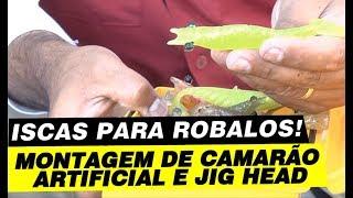 getlinkyoutube.com-Iscas para Robalo, dica de montagem de Jig e Camarão artificial.