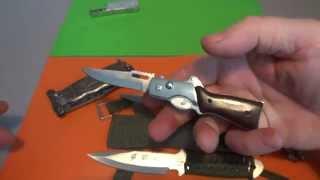 getlinkyoutube.com-Нож GDR- кинжал,тюремная выкидуха и зажигалки с лезвием !