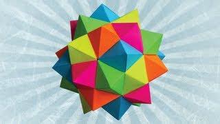 getlinkyoutube.com-Origami Compound of 5 Octahedra (Meenakshi Mukerji)