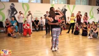 getlinkyoutube.com-Musicality in kizomba from Max Kumashev & Helen Karukova @ Yut Kizomba Fest 2013.11.24