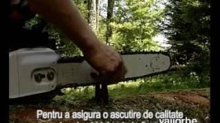 getlinkyoutube.com-Cum se ascute corect un lant de drujba / motofierastrau cu kitul de ascutire de la Vallorbe