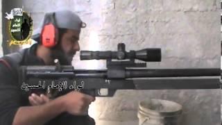getlinkyoutube.com-Iranian HS.50 Anti-Material Rifle Copy in Syria