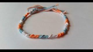 getlinkyoutube.com-DIY : Bracelet Brésilien Rond. Tuto Facile.