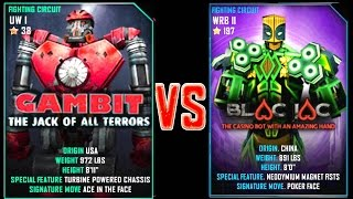 getlinkyoutube.com-Real Steel WRB Gambit VS Blac Jac NEW Robot updating (Живая Сталь)
