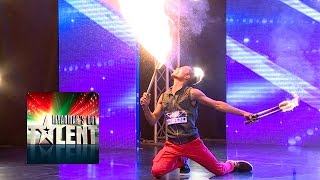 Fire Juggling Got Talent | Myanmar's Got Talent 2015 Season 2 Episode 3