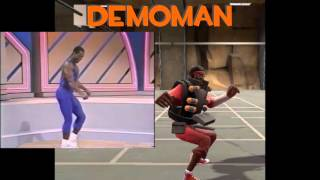 getlinkyoutube.com-TF2 Manrobics Taunt: Original Source/Team Fortress 2 Comparison