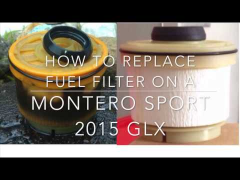 How to replace a fuel filter on a Mitsubishi Montero Sport 2015 GLX
