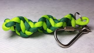 getlinkyoutube.com-How to make DNA paracord  keychain by ParacordKnots