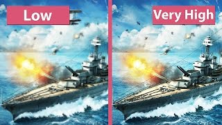 getlinkyoutube.com-World of Warships Beta – Low vs. Very High Graphics Comparison [60fps][FullHD]