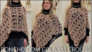 getlinkyoutube.com-PONCHO GOLA EM CROCHÊ/ DIANE GONÇALVES