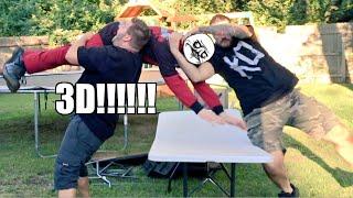 getlinkyoutube.com-3D THROUGH A TABLE! Backyard Wrestling Match and POOP PRANK