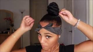 getlinkyoutube.com-EASY!! Top Knot Twisted Bun with Undercut