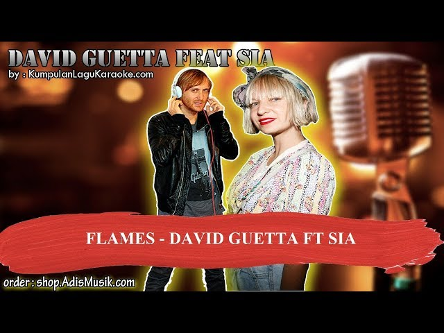 FLAMES - DAVID GUETTA FT SIA Karaoke
