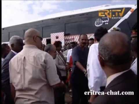 Eritrean President Isaias Afewerki over 150 handshakes in 4 days