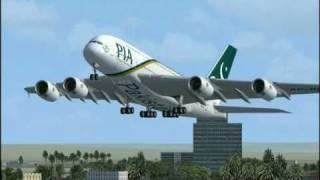 getlinkyoutube.com-Flight Simulator FSX : A380 Pakistan International - PIA
