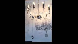 Odetto Bohemia Simple Żyrandol kryształowy