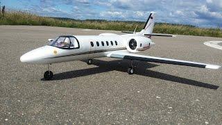 getlinkyoutube.com-Радиоуправляемый самолет Dynam Cessna 550 Turbojet ... Полеты