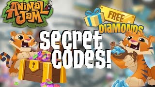 ANIMAL JAM SECRET CODES! (FREE DIAMONDS & GEMS!)