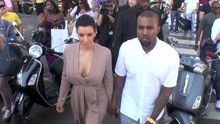 getlinkyoutube.com-Kim Kardashian and Kanye West in Cannes