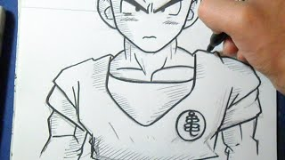 "getlinkyoutube.com-Cómo dibujar a krilin ""Dragon Ball Z"" | How to draw krilin"