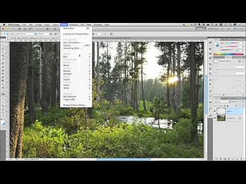 Creating Sunbeams in Adobe Photoshop CS5