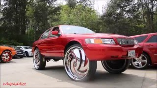 getlinkyoutube.com-WhipAddict: Kandy Red Mercury Grand Marquis on DUB Hurricayne 32s by Underground Rim King