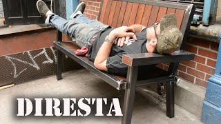 getlinkyoutube.com-✔ DiResta Steel & Wood Bench