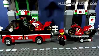 getlinkyoutube.com-LEGO CITY RACING BIKE TRANSPORTER 60084