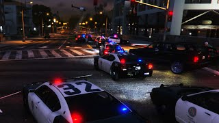 getlinkyoutube.com-GTA 5 LSPDFR SP - 30 Backup Units, Helicopters Chasing Armored Car