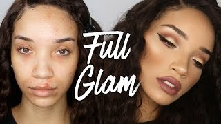 getlinkyoutube.com-Full Coverage Glam Makeup | Marc Jacobs Foundation