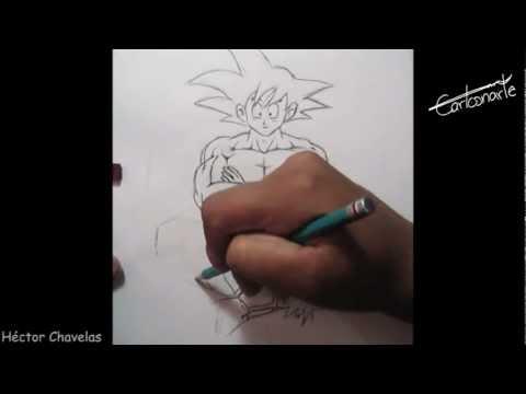 Cómo dibujar a GOKU - Dibujo Anime - Manga ( Dragon ball ) Cuerpo - Tutorial - Curso